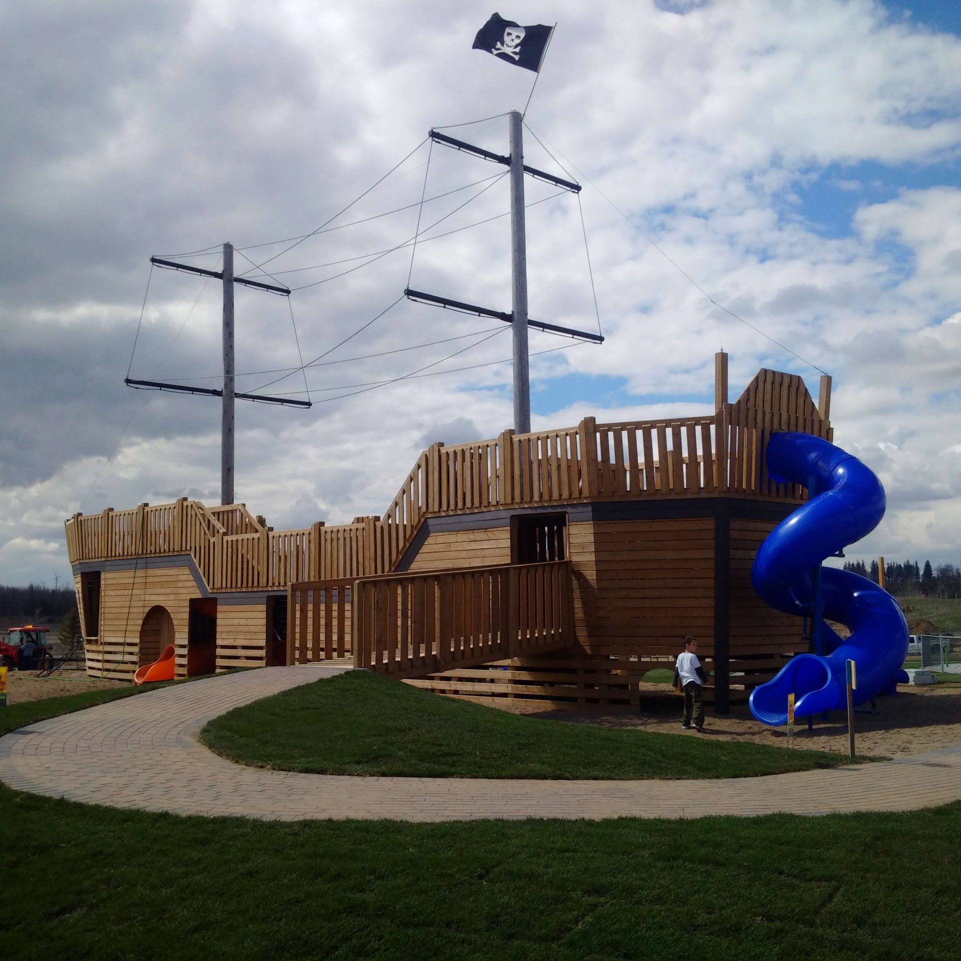 play structure pirate ship with slide