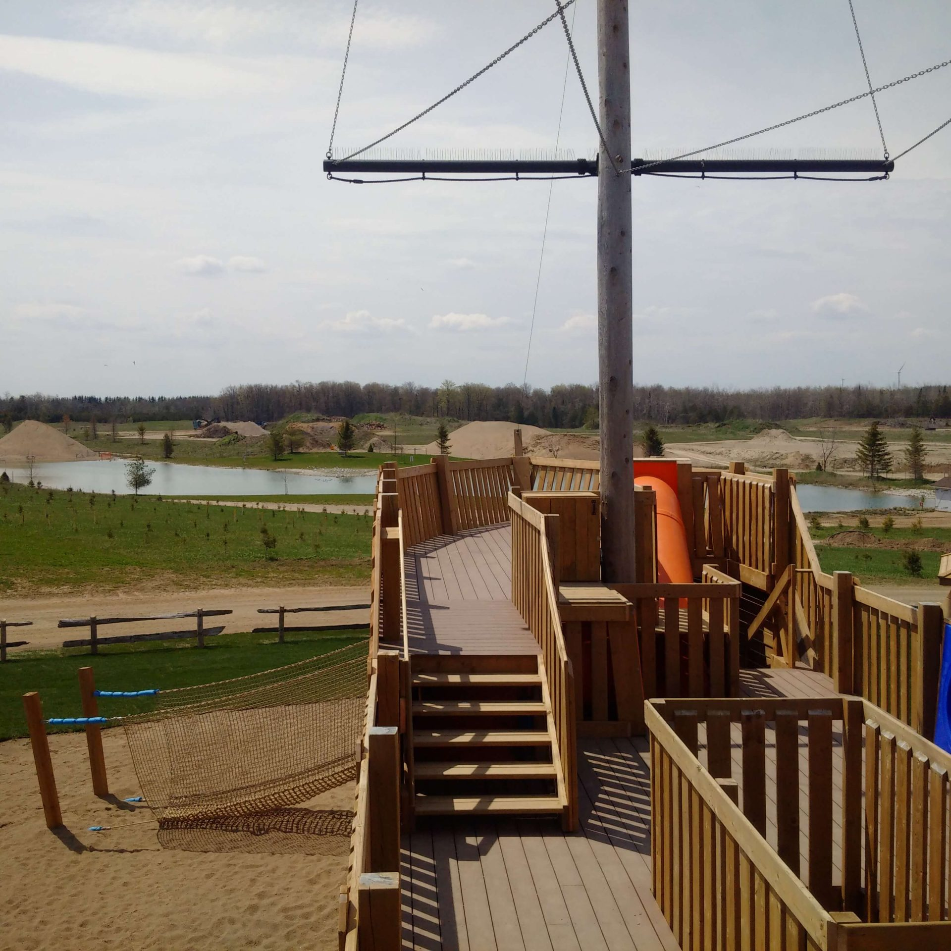 play structure ship deck