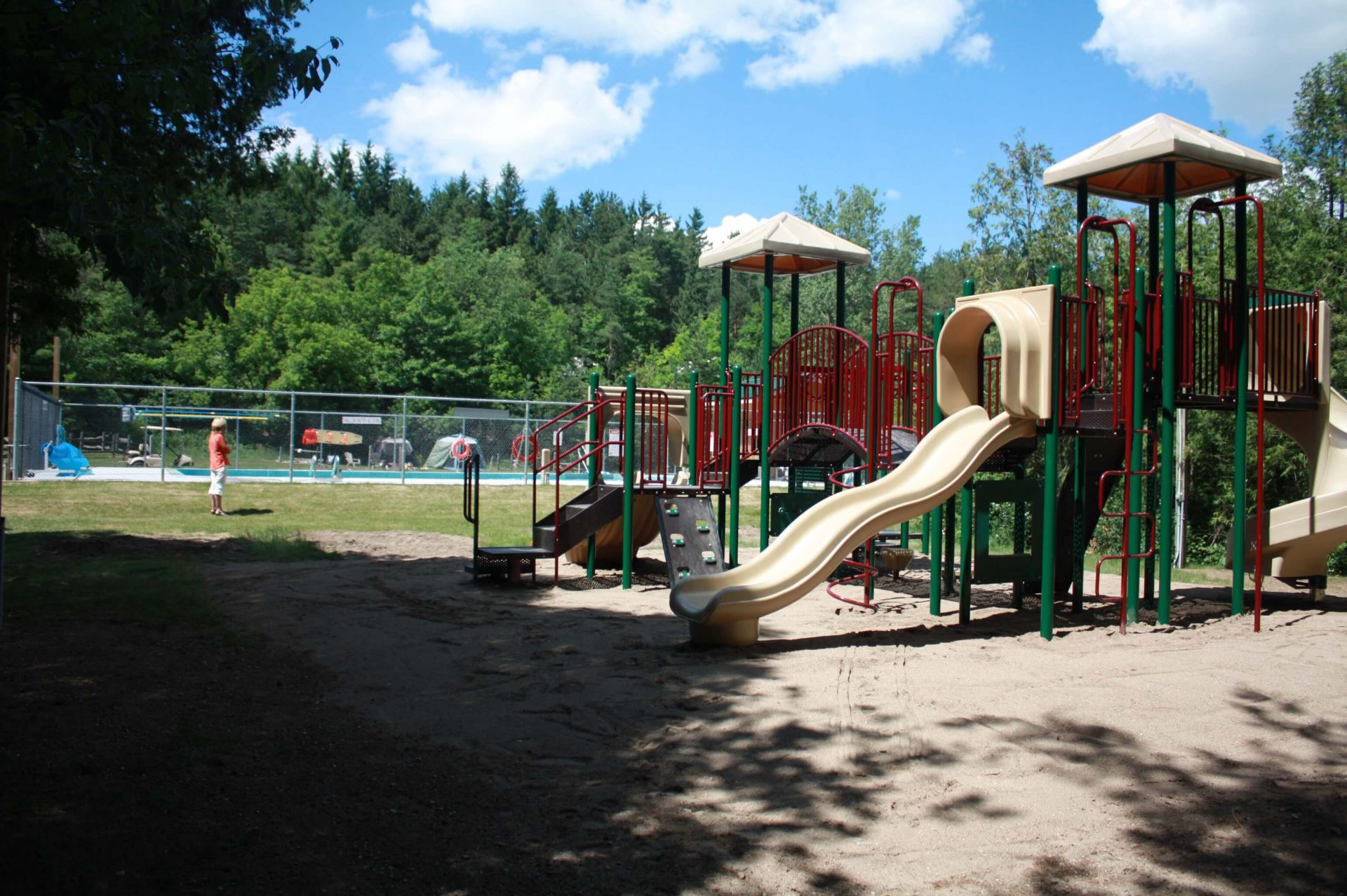 kids play structure with slides