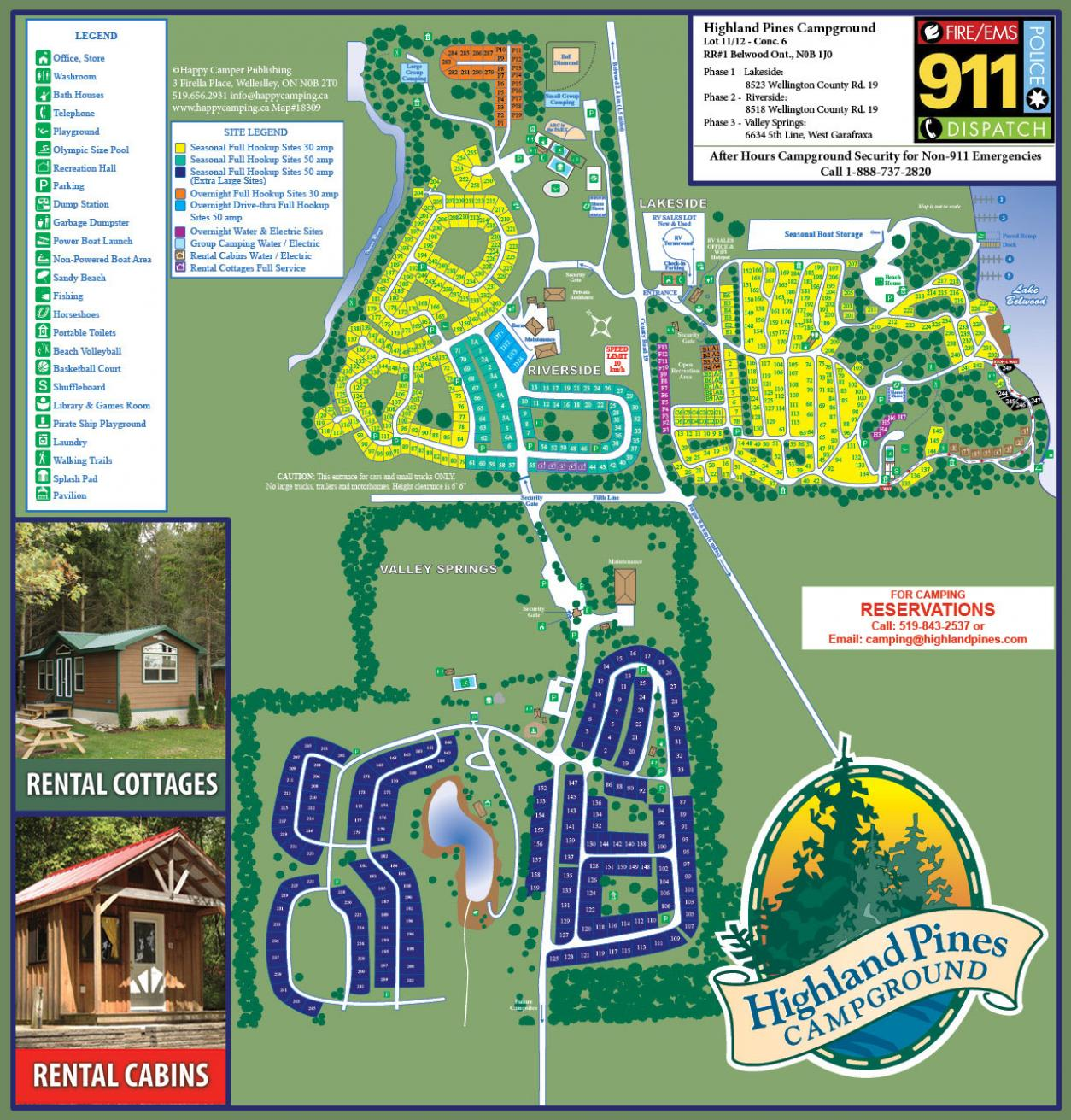 Campground Map | Highland Pines